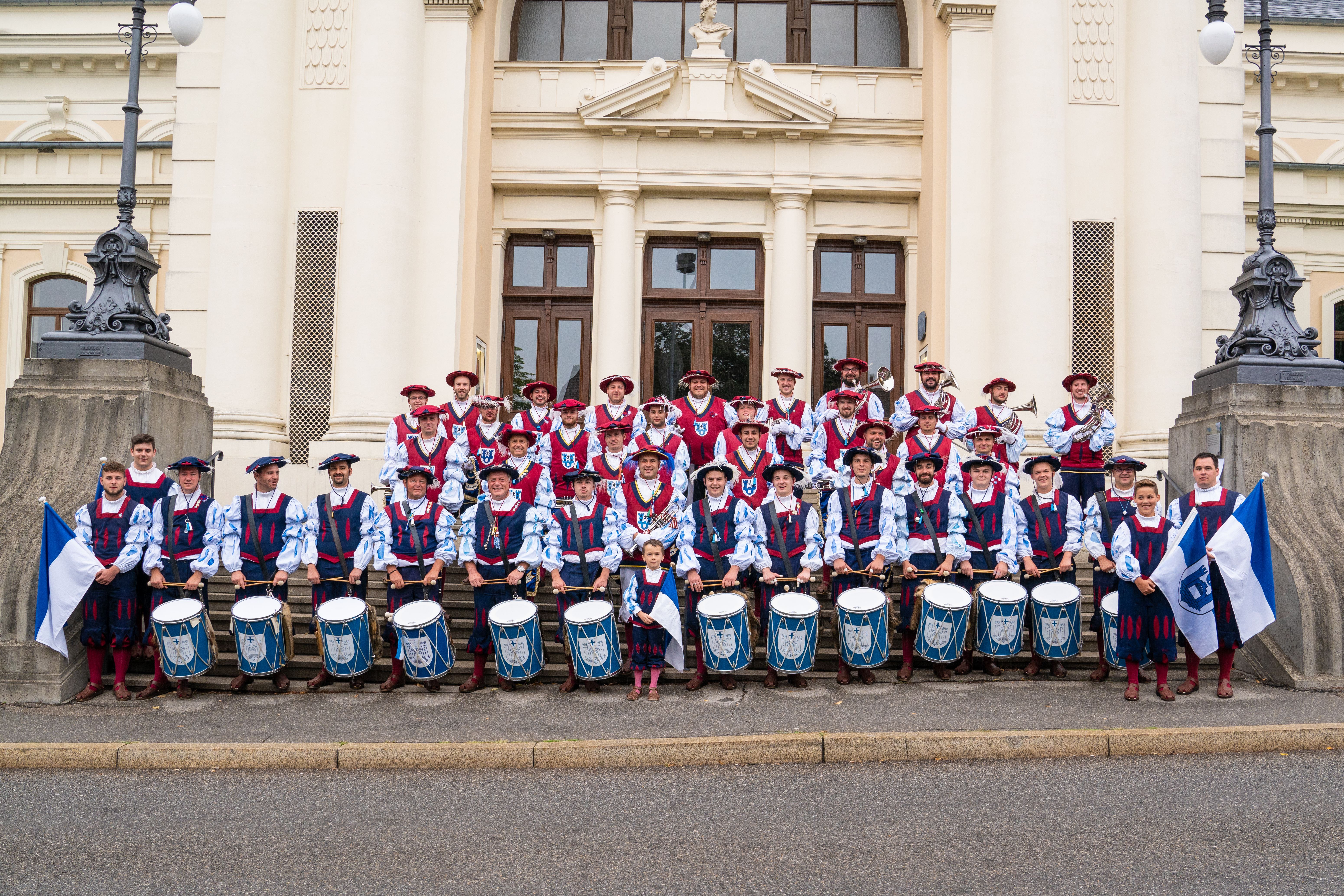 Die aktiven Mitglieder des Fanfarenzug Rauenspurg beim Rutenfest 2018